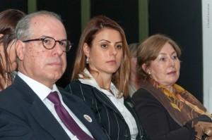 O Embaixador do Brasil na Itália, Ricardo Neva Tavares e a dep. Renata Bueno (foto de Claudio Cammarota)