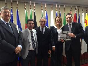 Dep. Orlando Bolçone, dep. Gileno Gomes, dep. David Zaia, dep. Renata Bueno, Presidente da Casa, dep. Fernando Capez