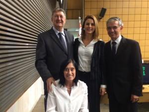 Dep. Orlando Bolçone, dep. Renata Bueno, dep. David Zaia e dep. Célia Leão