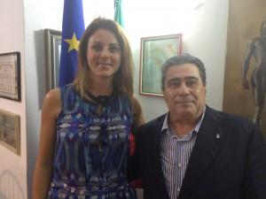 Renata Bueno com Salvador Scalia.
