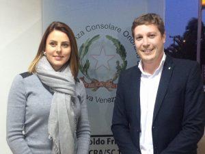 Com o correspondente consular da Itália em Nova Veneza, Ver. Aroldo Frigo.
