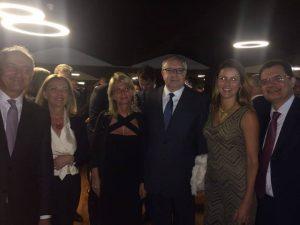 Com o Cônsul da Itália no Rio de Janeiro, Riccardo Battisti e sua esposa